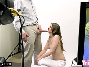 Jillian Janson gets tricked into drilling on a audition