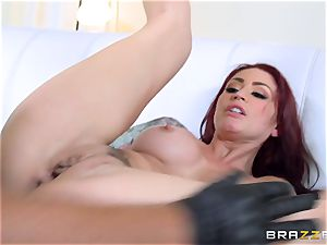 redhead wifey Monique Alexander gets smashed in front of her husband