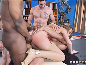 Britney Amber getting gang humped