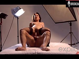 French glamour queen lea plumbed rapid and rock-hard in the culo