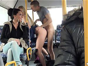 Lindsey Olsen bangs her boy on a public bus