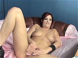 voluptuous Jayden Cole enjoys teasing her edible humid clittie