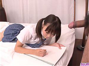 bare Momoka Rin incredible bedroom fuck-a-thon with a schoolteacher