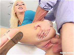 Tiffany Watson deep-throating off her step brutha