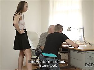 DADDY4K. parent and youthfull chick scorching fuck-a-thon in couch culminates with creampie