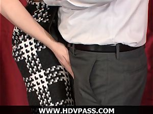 blond housewife Lily likes HD dt and doggie