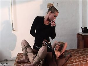 Kathia Nobili putting some clamp in super hot babe's titties
