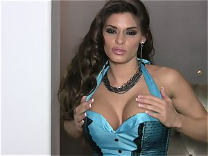 Madelyn Marie flaunts her underwear so her pals get super-fucking-hot and wild