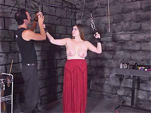 shackled nubile caned