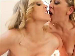 double massage for mature babe Julia Ann and threesome ravaged