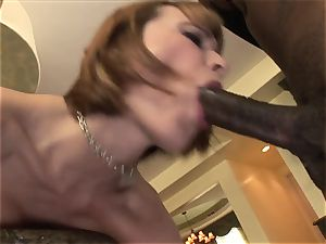 sandy-haired With Braces big black cock ass-fuck