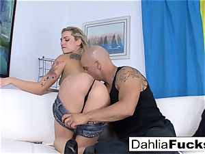 Getting boinked by Derrick on the sofa